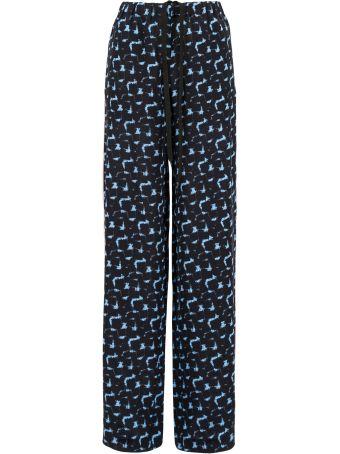 Printed Silk Pyjama Trousers