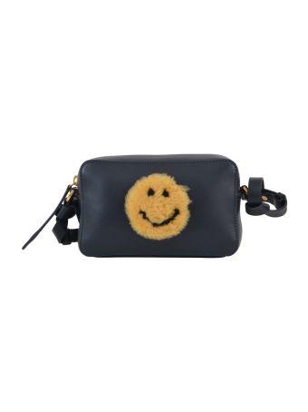 Anya Hindmarch Camera Bag + Shearling Smiley