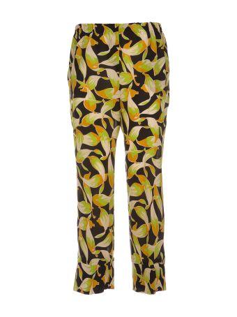 N.21 Nº21 Printed Cropped Trousers