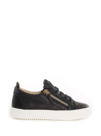 Giuseppe Zanotti May London Python-print Leather Sneakers