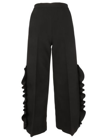 MSGM Ruffle Detail Trousers