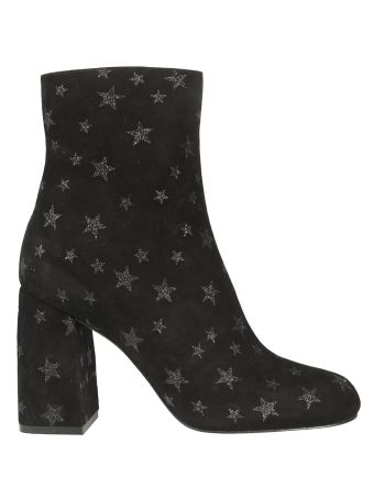 Valentino Red Red Valentino Star Embellished Ankle Boots