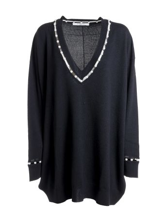 Givenchy Faux Pearl Trim Jumper