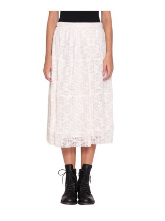 See by Chloé Plissé Lace Skirt