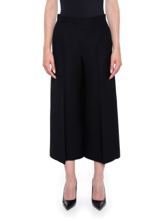 Wool And Silk Cropped Trousers