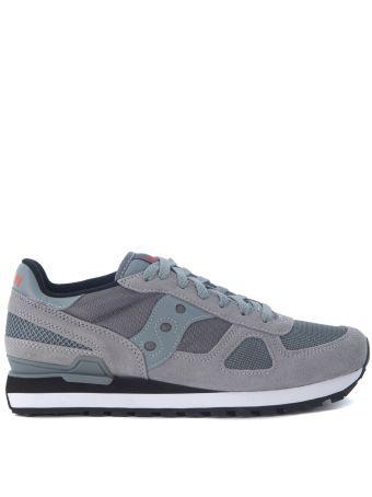 Saucony Shadow Grey Suede And Mesh Sneaker