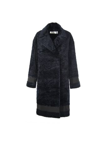 Victoria Beckham Navy Blue Coat