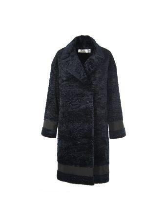 Victoria Beckham Navy Blue Coat