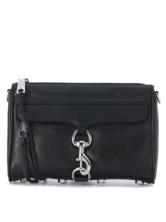 Rebecca Minkoff Mini M.a.c. Black Leather Shoulder Bag