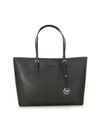 Jet Set Travel Medium Top-zip Multi Function Tote Michael Michael Kors Black