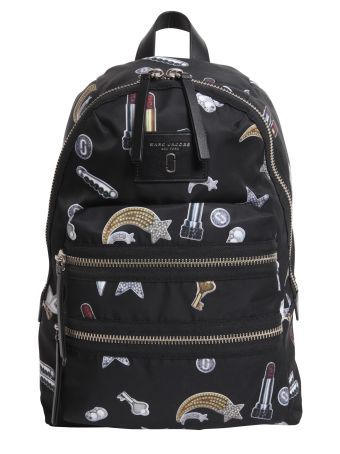 Biker Backpack With Printed Charms