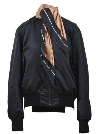 Balenciaga Bomber Jacket With Seasonal Scarf