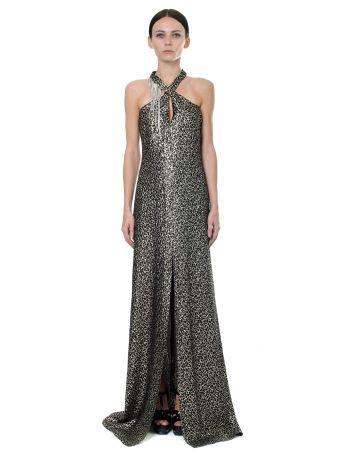 Lanvin Crystals Embellished Silk Dress