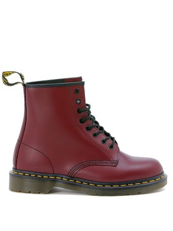 Dr. Martens 8 Eyelet Cherry Red Smooth Boot