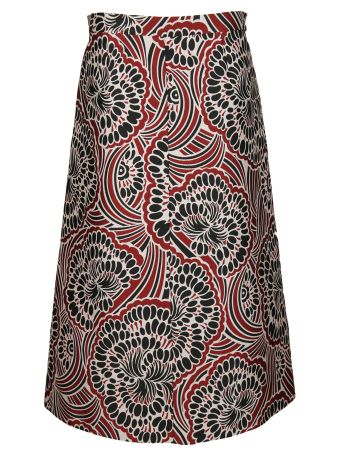 Valentino Red Red Valentino Floral Print Skirt