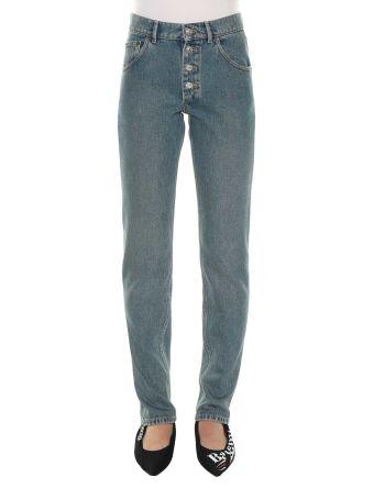 Balenciaga Stonewash Denim Tube Jeans