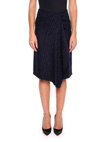 Pinstriped Wool Marta Skirt
