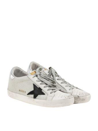 Golden Goose Deluxe Brand White Mesh Superstar Sneakers
