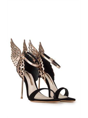 Sophia Webster Evangeline Angel-wings Suede Sandals