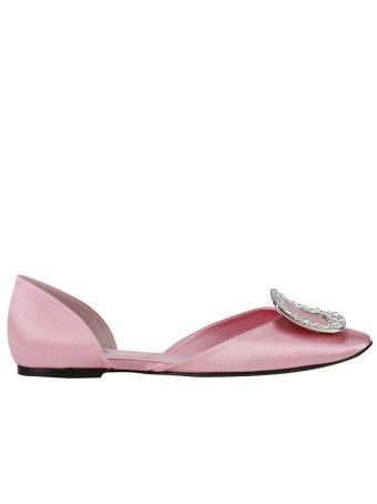 Ballet Flats Chips Strass Ballet Flats In Silk With Crystal Buckle