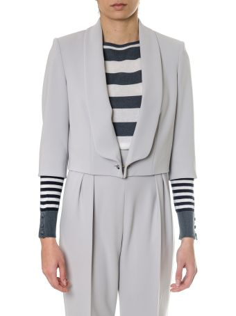 Max Mara Ice Color Cady Jacket With Lapels