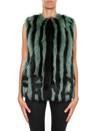 Shearling And Fox Fur Vest