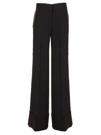 Victoria Beckham Ribbed Flared Trousers