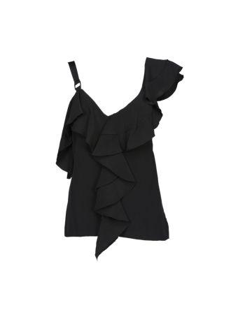 Proenza Schouler Ruffle One-shoulder Top