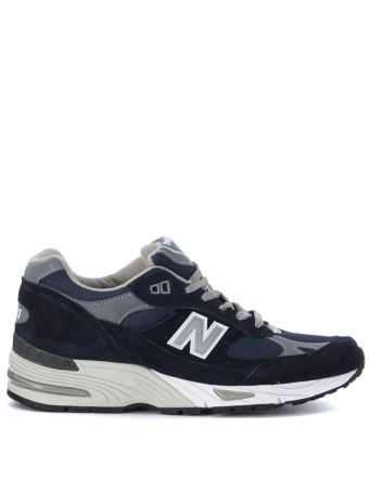 New Balance 991 Limited Edition Blue And Grey Leather Sneaker