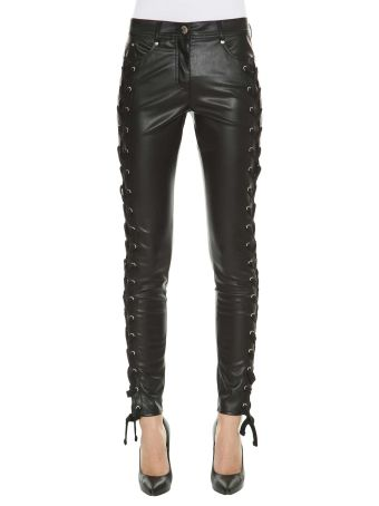 Versus Fake Leather Skinny Pants