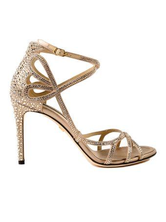 Dolce & Gabbana Silk Strass Sandal