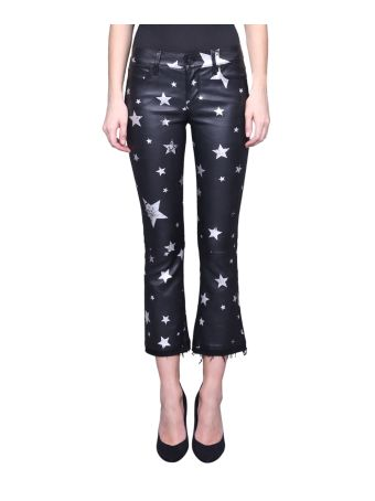 RTA Printed Leather Pants
