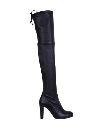Stuart Weitzman Highland Leather Stretch Boots