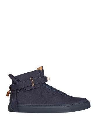 Buscemi Navy Buffed Leather 100mm Sneakers