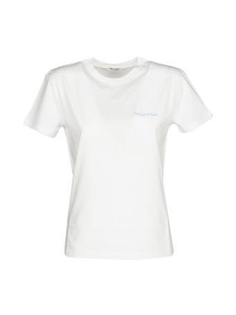 Miu Miu Logo Print T-shirt