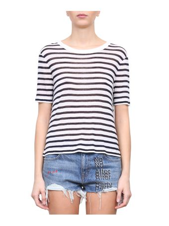 T by Alexander Wang Striped Cotton T-shirt