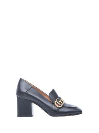 Gucci Mid-heel Black Loafer
