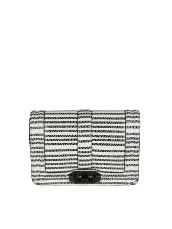 Rebecca Minkoff Borsa Leather Crossbody Color Black/white
