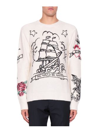 Valentino Tattoo Cashmere Sweater