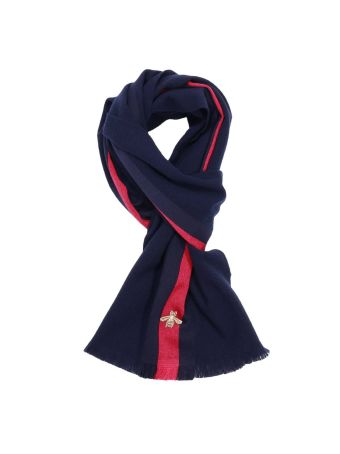 Scarf Scarf 37 X 180 Cm In Cashmere Wool With Web And Bee Pattern