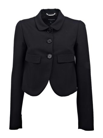 Rochas Cropped Buttoned Blazer