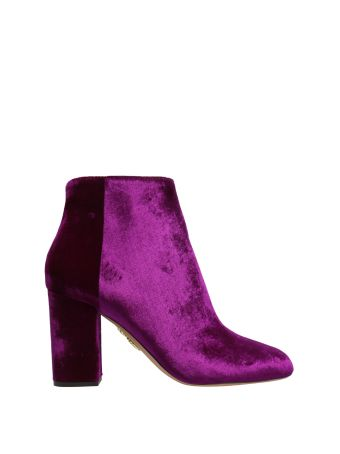 Aquazzura Brooklyn Velvet Ankle Boots