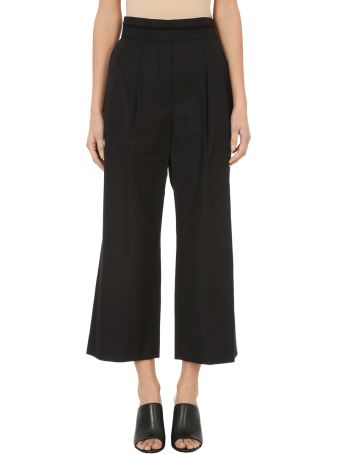 Alexander Wang Black Cotton Deconstructed Cropped Trousers