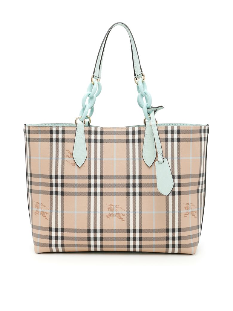 BURBERRY Medium Reversible Tote in Blue