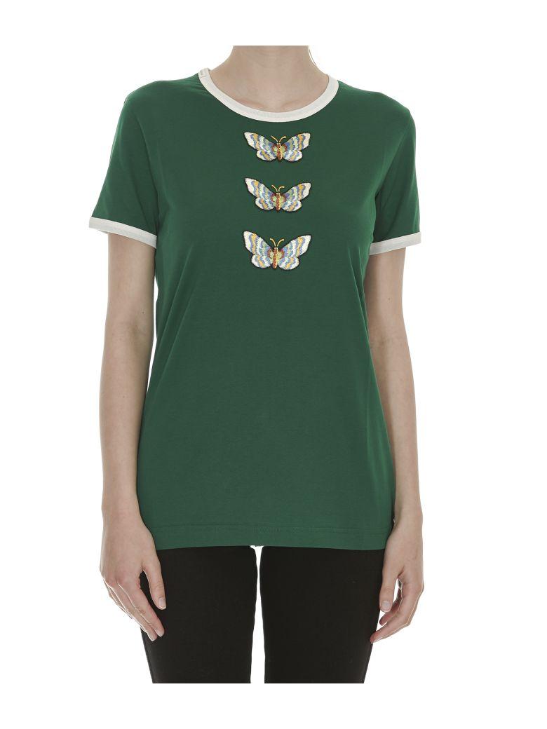 Dolce gabbana dolce gabbana patch tshirt green for Dolce gabbana t shirt women