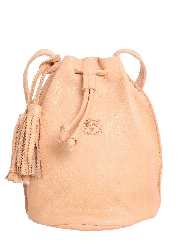 Il Bisonte Leather Bucket Bag
