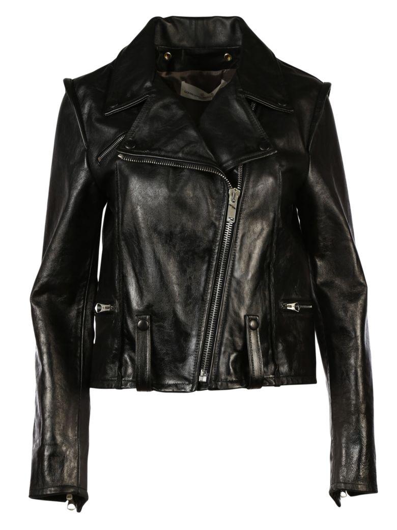 golden goose golden goose biker jacket black women 39 s leather jackets italist. Black Bedroom Furniture Sets. Home Design Ideas