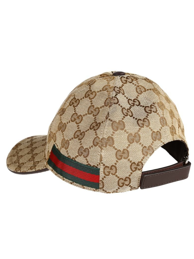 gucci gucci original gg canvas hat beige women 39 s hats. Black Bedroom Furniture Sets. Home Design Ideas
