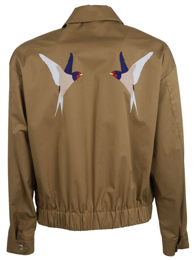 STELLA MCCARTNEY - Bird Embroidered Jacket in Mushroom