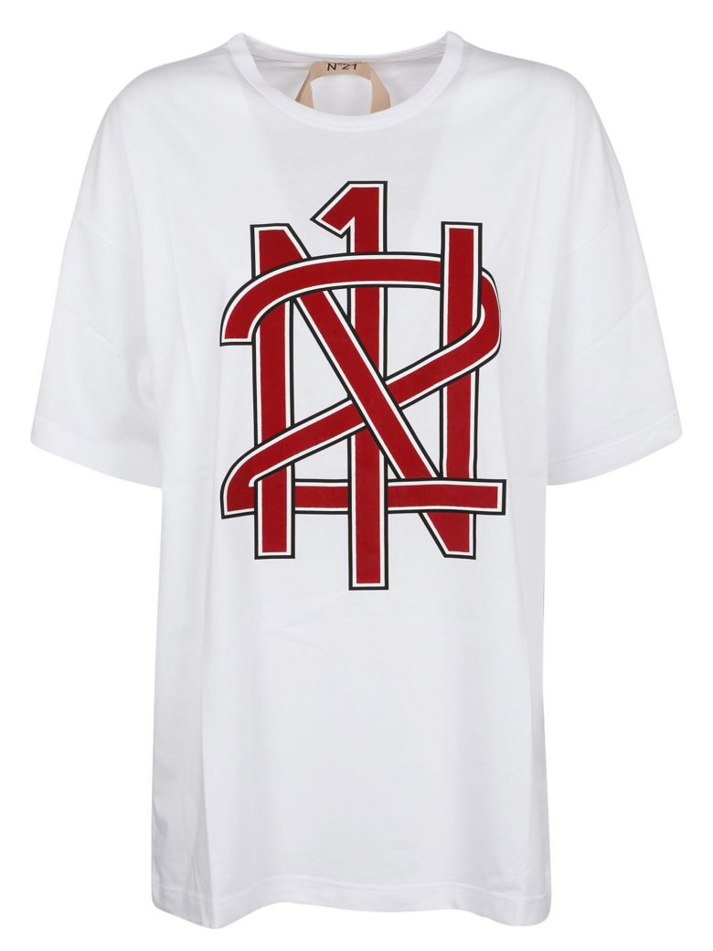 Cheap Sale Wide Range Of logo print Tshirt Red N°21 Really For Sale ...
